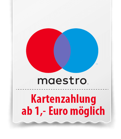 EC-Kartenzahlung ab 1 Euro.
